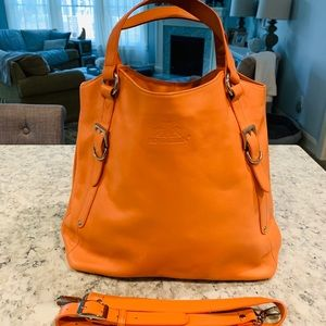 NWOT Rowallan of Scotland Tangerine Leather Bag